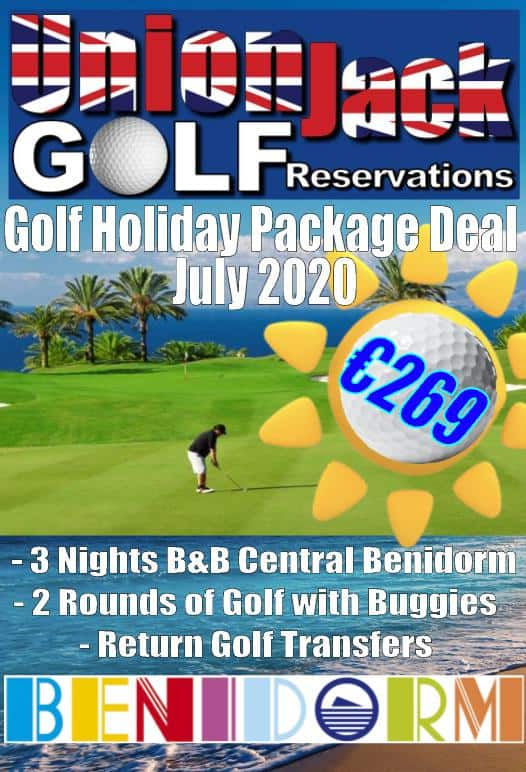 Benidorm Golf holiday package deal July