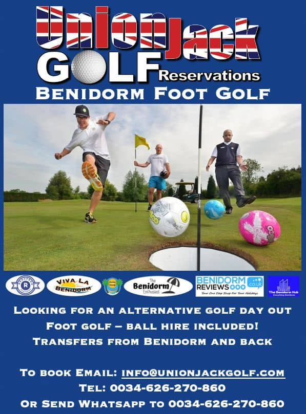 Benidorm Foot Golf day out with transfers