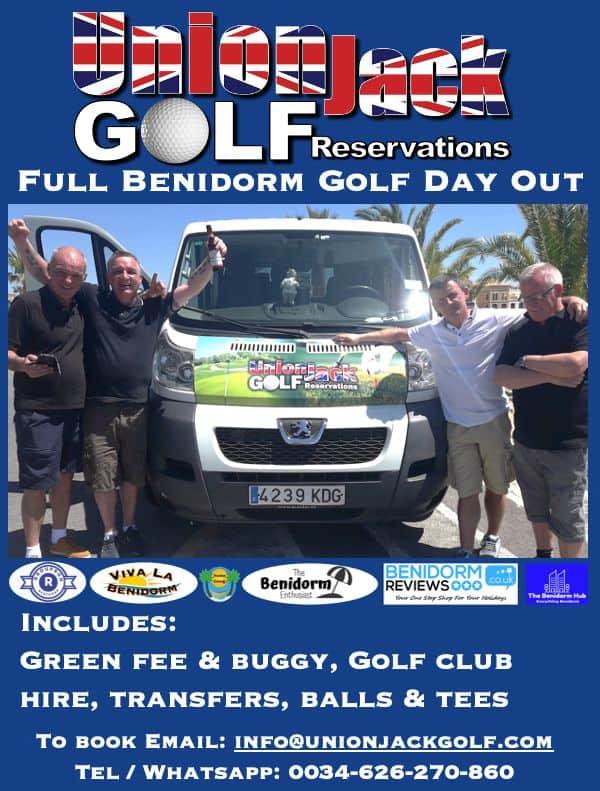 Benidorm Golf Day out by Union Jack Golf Benidorm