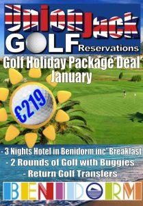 1 Jan Benidorm Golf Holiday Union Jack Golf Benidorm 3 night