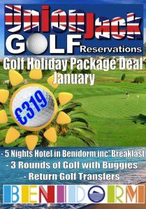 1. Jan Benidorm Golf Holiday Union Jack Golf Benidorm 5 night