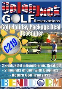 12 Dec Benidorm Golf Holiday Union Jack Golf Benidorm 3 night