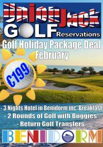 2 Feb Benidorm Golf Holiday Union Jack Golf Benidorm 3 night