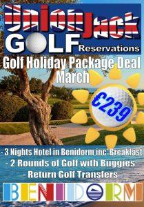 3 MarBenidorm Golf Holiday Union Jack Golf Benidorm 3 night