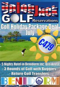 7. July Benidorm Golf Holiday Union Jack Golf Benidorm 5 night